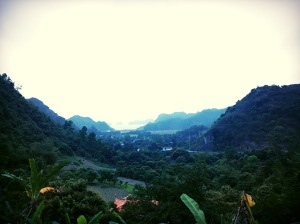 Freedom! View over the valley to Cat Ba Town