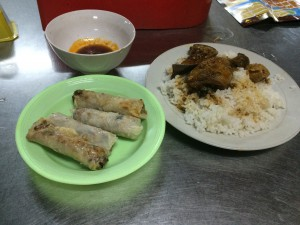 Spring rolls and Com Ga (Chicken + Rice)
