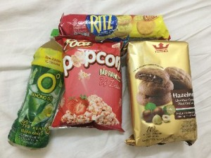 A selection of snacks from one of our many supermarket trips.