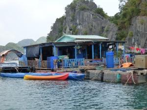 Fish farm and house