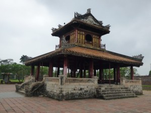 Pagoda in front of the Flag Tower- in a bad state of disrepair