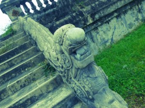 carved stone bannister