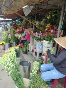 Flower stall, Fruit and Veg Market