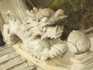 Pagoda stair decoration, Marble Mountain