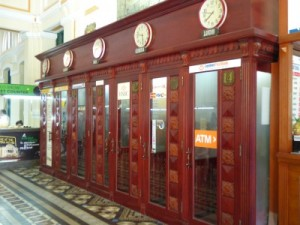 Old phone boxes- most are now ATMs