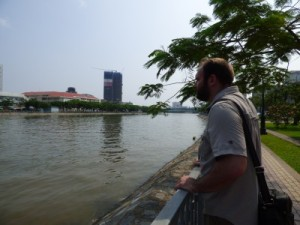 Gav and the view over the river (city side)