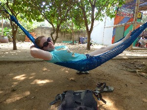 Ah a hammock- only 15 mins in this after lunch