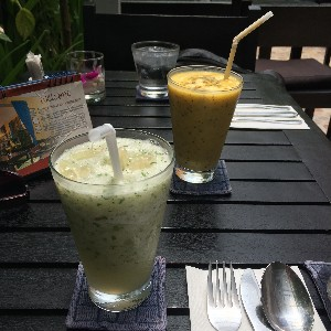 Mango Lassi and Pomelo and mint Freeze