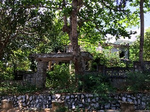 Villas destroyed by the Khmer Rouge