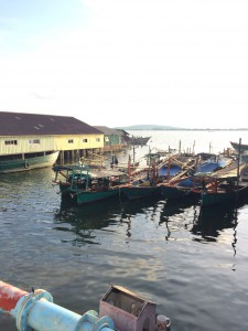 Boats on the river, Koh Kong