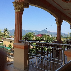 View from the hotel terrace.