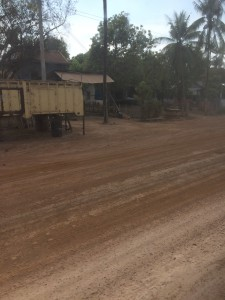 This was on the main road between Phnom Penh and Siem Reap. All dirt- they are in the process of doing all the roads here.