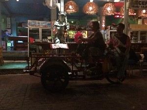 Rambuttri St- motorbike delivery truck thing