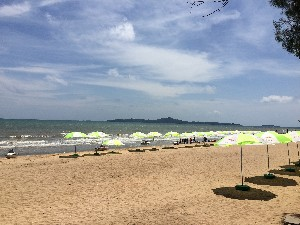 Pattaya Beach- ok to lounge on but the island just of the shore has much nicer beaches apparently.