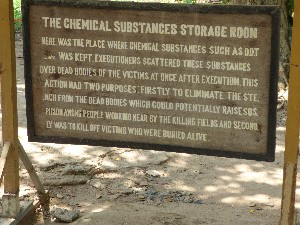 Chemicals such as DDT we used to disguise the smell of the decomposing bodies and also to kill anyone who was still alive. Horrific.