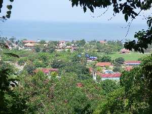 View over Kep (towards Vietnam)