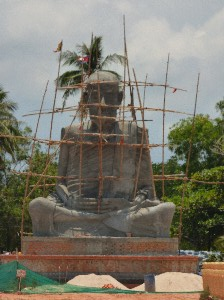 New Wat by the nice beach- a rather emaciated looking Buddha.