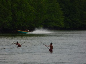 Fishermen and a speedboat..