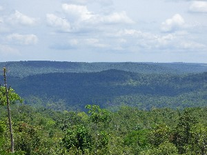 View across the Cardamom mountains.