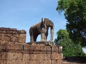 Elephant statue at East Melbon