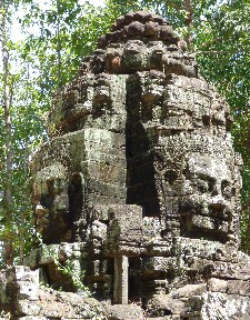 Entrance gate faces- Ta Som