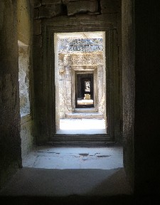 Preah Khan- one of the corridors- the main temple has four corridors  pointing to the four compass points.