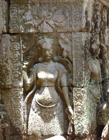 One of the original carvings at Preah  Khan