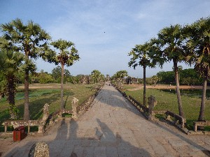 The causeway to the main complex.