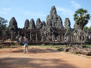 Bayon Temple- I waited for 5 minutes for that chap to take his selfie- in the end I got bored waiting.