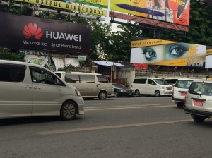 Can you find the advance ticket desk? I'll give you a clue its betweenn the Huawei and eye billboards.