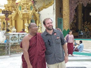 This lovely monk demanded a photo with Gav.