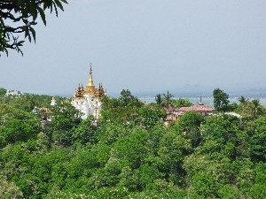 Views from the pagoda at Sagaing Hill