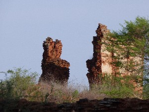 Ruins that look like bunny ears