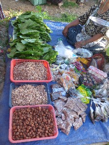 Betel leaves, nuts, and assorted additives.