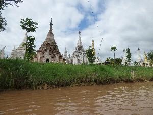 Stupas at the village