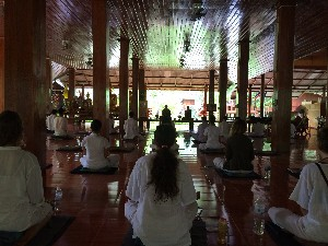 Seated meditation (ladies are always at the back)