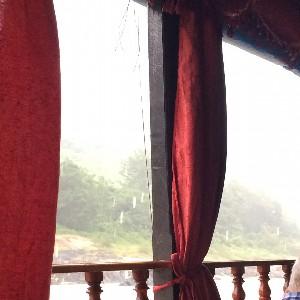 It rained heavily...