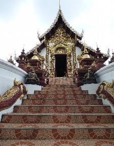 Stairs to Wat Rachamontian.
