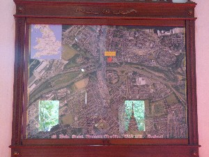 This is a map of Runcorn..yes Runcorn, in a Wat in Chiang Mai! (Wat Phra Singh)