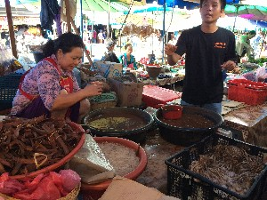 This lady was making fish sauce, aparently it was good that day as tt didn't stink and wasn't covered in flies.