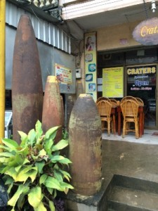 Also worth mentioning is that bomb casings are used all over Laos (in the worst bombed areas) as house supports, cooking equipment or re-purposed into knives or farming equipment.....