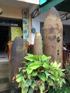 ...these were outside the Crater's restaurant in Phonsavan