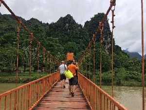 bridge across to the Chang Cave