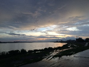 Sunset over the Mekong