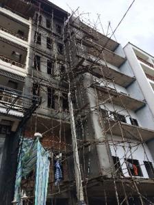 Ah bamboo scaffolding...