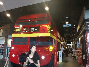 Some shops in a bus in Terminal 21 (each floor was a different city theme, this was London