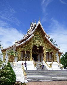 You are permitted only to peer in the door to see the Luang Prabang..