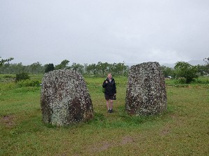 The Plain of Jars- thought to be a Bronze Age burial site- bodies would be put whole into the jars and left until only bones remained. Then the bones were buried elsewhere. The cave onsite was also thought to be used to cremation purposes.