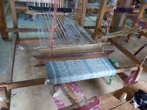 The looms- this was the most complicated weaving we have ever seen- the stuff is gorgeous- and actually quite reasonably priced.