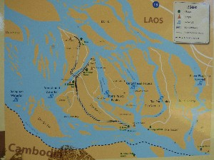This was the train line across the islands to allow passage past the waterfalls (they're more like crazy rapids really). Interesting story though- French railway in Laos.